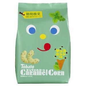 東ハト キャラメルコーン チョコミント味 77g×1...