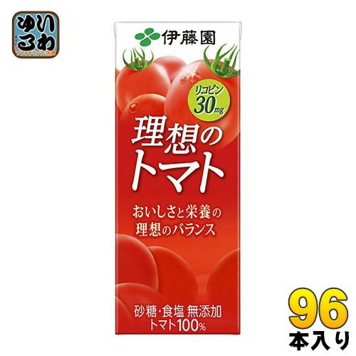 伊藤園 理想のトマト 200ml紙パック 24本入×4 ま...
