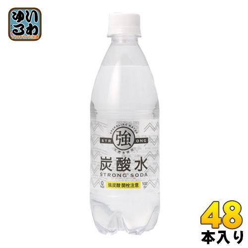 友桝飲料 強炭酸水 500ml ペットボトル 48本 (24...