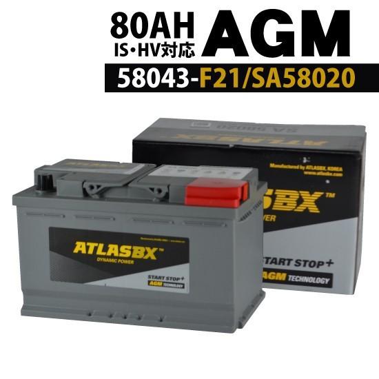 ATLAS SA58020 アトラス バッテリー AGM 密閉型 1...