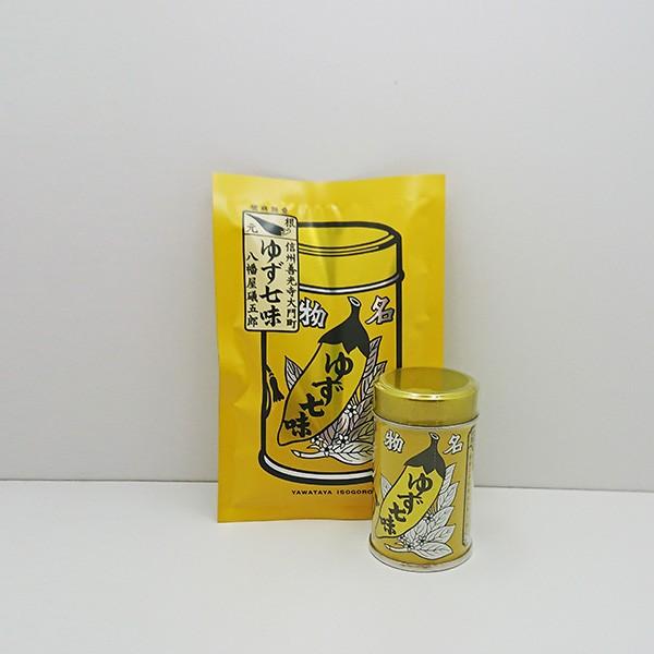 八幡屋礒五郎七味唐辛子(ゆず入り)1缶+1袋(信...
