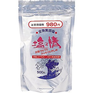 粗塩タイプ  塩の精 マッサージソルト 500g