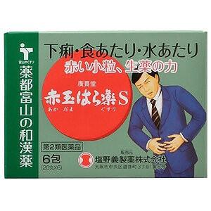 【第2類医薬品】 廣貫堂赤玉はら薬S 6包(20丸×6)...