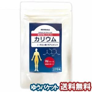 カリウム + クエン酸 サプリメント 270粒 2個購...