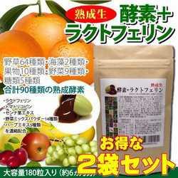 【お得な2袋セット!】熟成生酵素+ラクトフェリ...