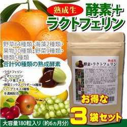【お得な3袋セット!】熟成生酵素+ラクトフェリ...