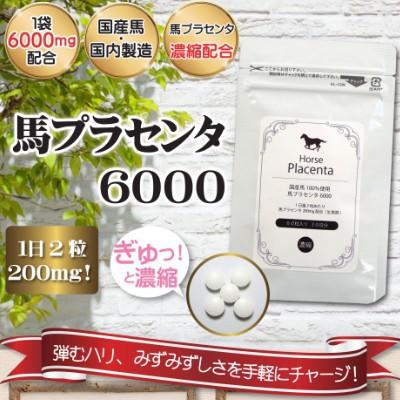 馬プラセンタ6000 60粒入 1か月分 国産馬プラセン...