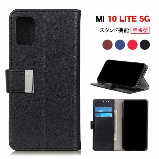 Xiaomi Mi 10 Lite 5G XIG01 ケース 手帳型 レザ...