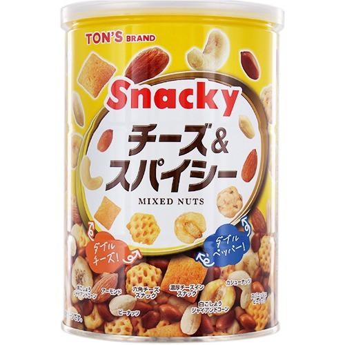 【東洋ナッツ食品 チーズ&スパイシー 缶 300g】