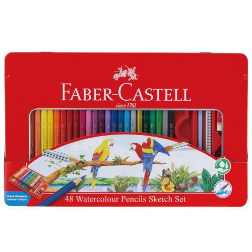 水彩用品 ファーバーカステル 水彩色鉛筆48色セッ...