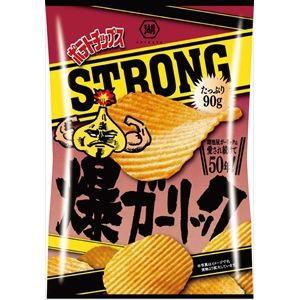湖池屋 ポテトチップス STRONG 爆ガーリック 90g...