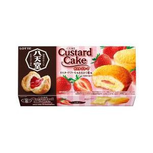 ロッテ 八天堂監修カスタードケーキ カスタードく...