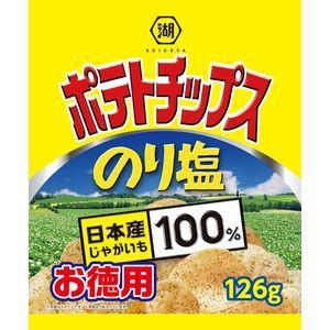 湖池屋 お徳用ポテトチップス のり塩 126g×10...