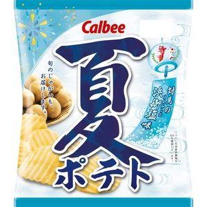 カルビー 夏ポテト 対馬の浜御塩味 65g×12入(6...