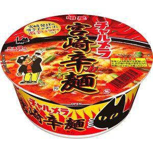 明星食品 チャルメラどんぶり 宮崎辛麺 77g×12...