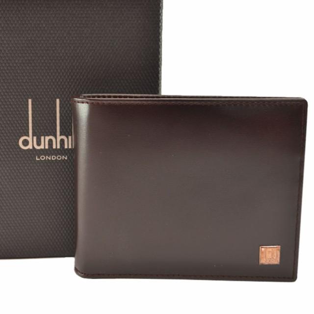 ダンヒル dunhill 二つ折り 札入れ  財布◆ダーク...