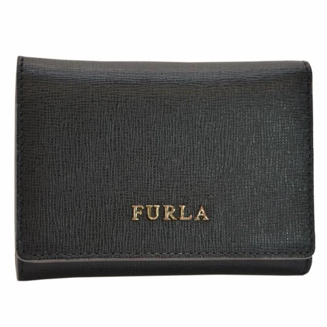 フルラ FURLA Wホック 三つ折り 財布  ◆ブラック...
