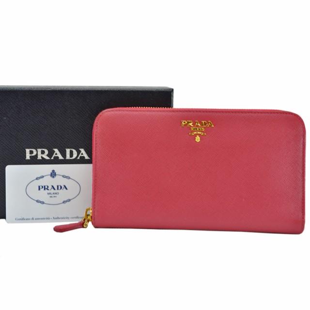 プラダ PRADA ラウンドファスナー 長財布  ◆ピン...