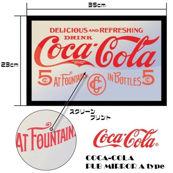 コカコーラ COKE パブミラー 35cm×23cm アメ...