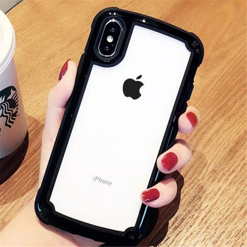 LAZA 【ブラック】iphoneケース シンプル バイカ...