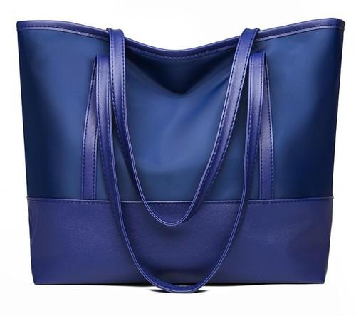 LAZA【ブルー/ホワイト】トートバッグ ショルダー...