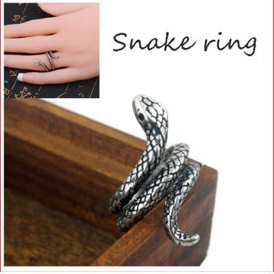 LAZA  シルバー レディース 蛇 指輪 スパイラル ...