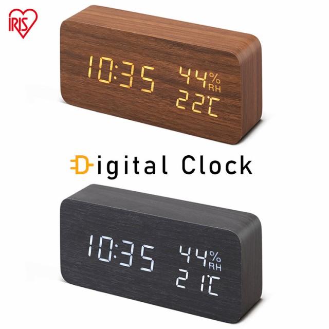 時計 置時計 デジタル置時計 アイリスオーヤマ IC...