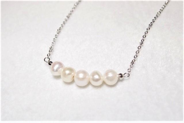 淡水パールのネックレス2   宝石 真珠 安産の...
