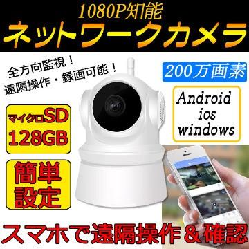 留守宅・防犯にネットワーク・ワイヤレス・カメラ...