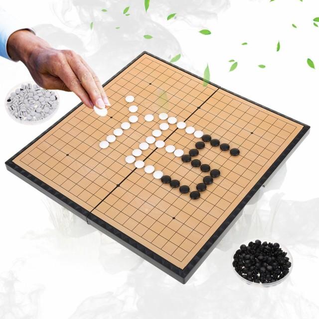 お子さんの集中力アップに今人気の碁盤セット☆落ちないマグネット石