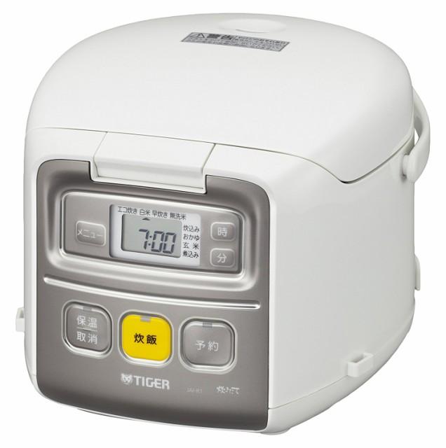 タイガー マイコン 炊飯器 3合 ホワイト 炊きたて...