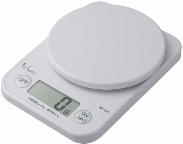 タニタ デジタルクッキングスケール 1kg/1g ホワ...