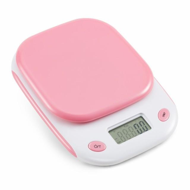 ピンクが華やか ☆ 電子秤 はかり デジタルスケー...