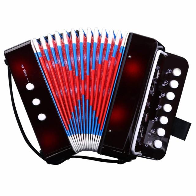 ミニ アコーディオン 7鍵 2ベース 子供用 楽器・...