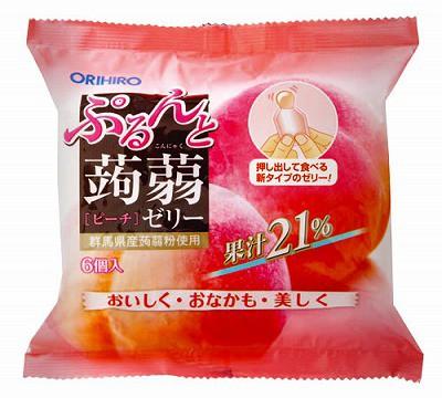 オリヒロ ぷるんと蒟蒻ゼリーTパウチ ピーチ(2...