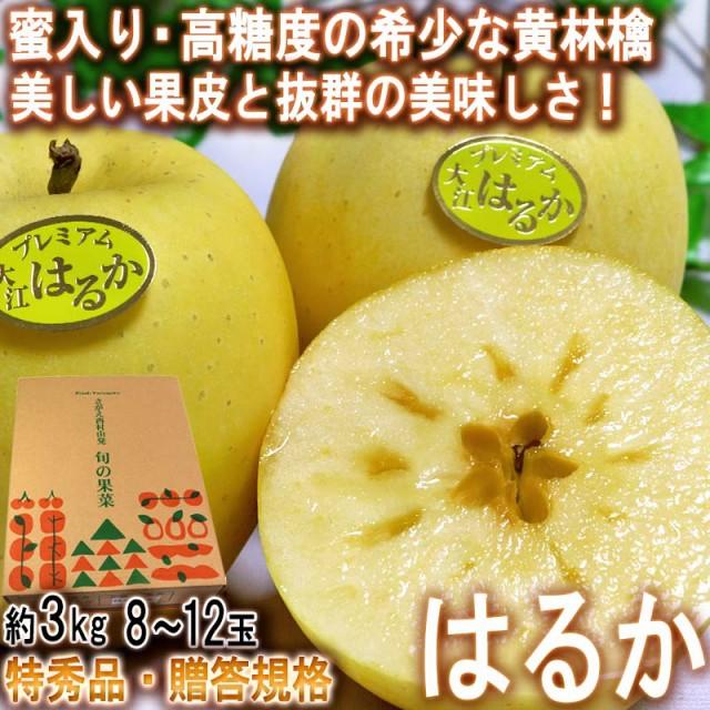 はるか 蜜入り黄林檎 約3kg 8〜12玉 特秀品 山形...