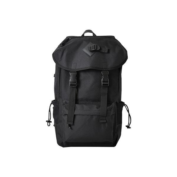 ナイロンフラップバックパック ブラック BAG-016-...