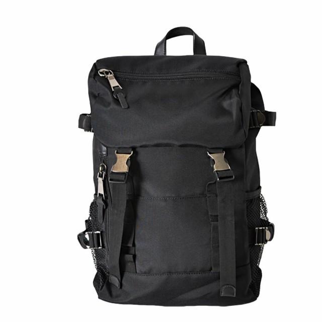 ダブルベルトフラップリュック ブラック BAG-027-...