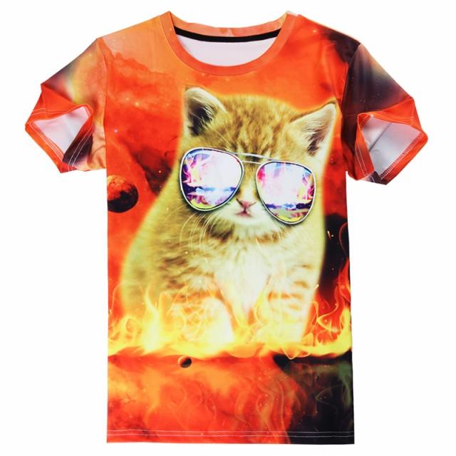 【送料無料】猫 猫柄 Tシャツ メンズ かわいい ユ...