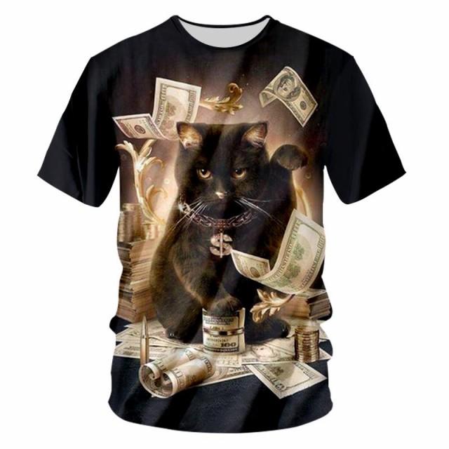 【送料無料】猫 猫柄 Tシャツ メンズ かわいい ...