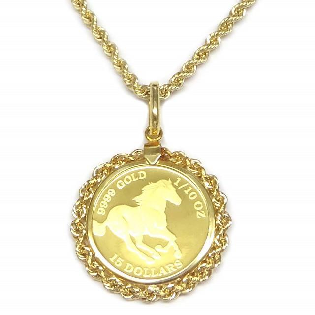24金ツバルホース金貨 バブル時代到来 18金ロープ...