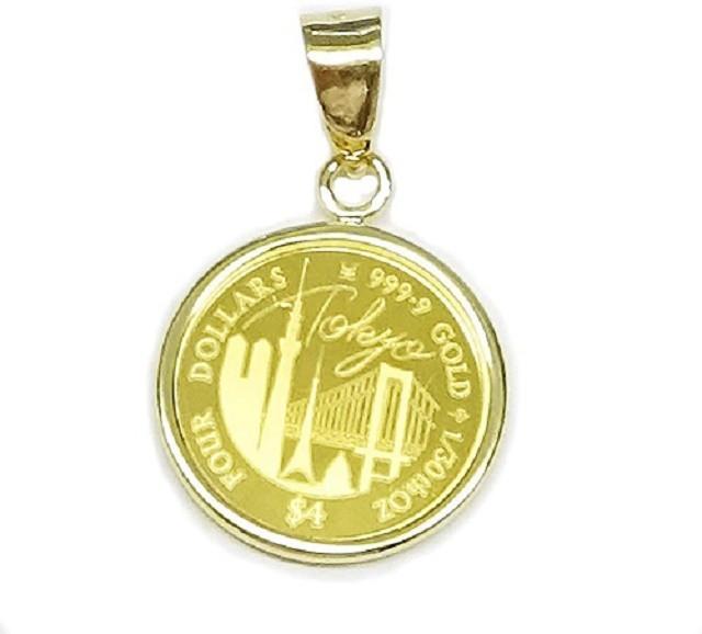 純金 TOKYO Coin 東京コイン K24 1/30オンス(4$...