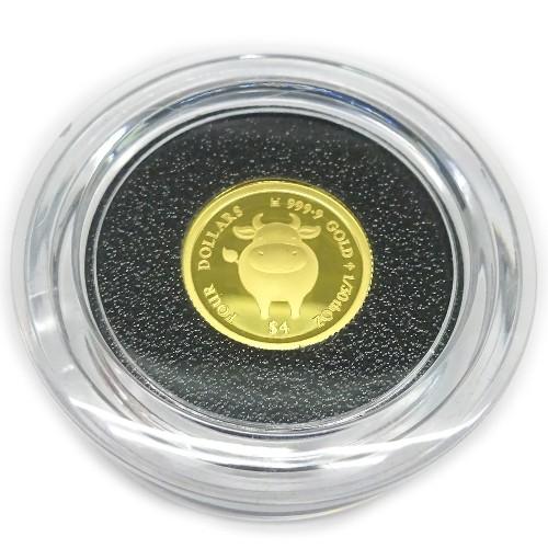 純金K24金干支丑<牛>Cow・コイン1/30オンス(4$...