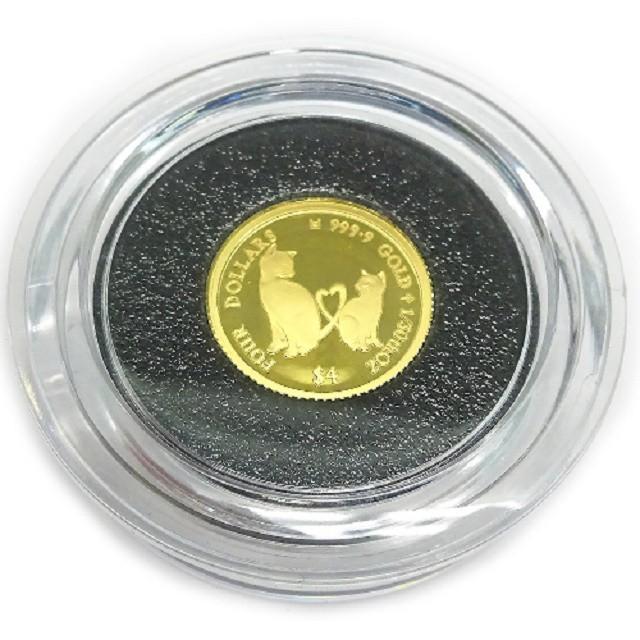 純金K24金ミーチョとミーチャ キャット・コイン1/...