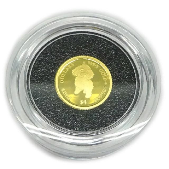純金K24金プードル ドッグコイン1/30オンス(4$)...
