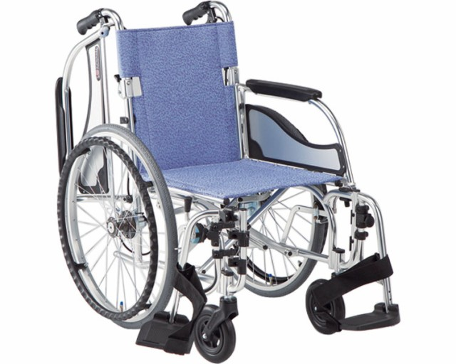 アルミ自走式車椅子 エアリアル MW-SL31B 介助ブ...