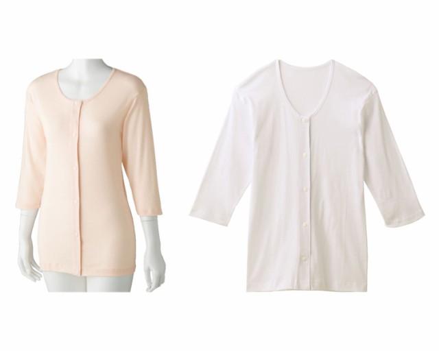 7分袖ホックシャツ(2枚組) 89795 ケアファッシ...