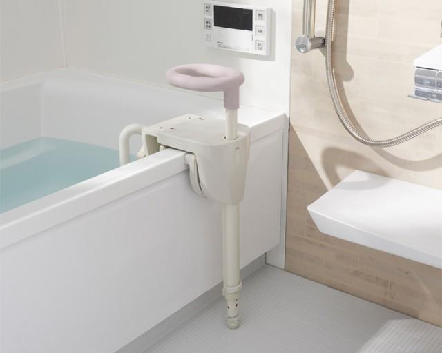 ユニプラス 浴槽手すりUB兼用130 ホワイト BSH01 ...