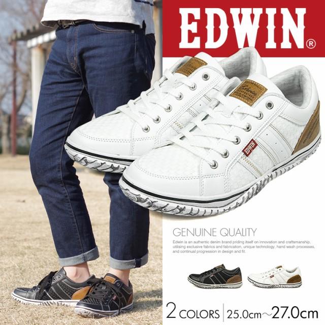 【送料無料】EDWIN エドウィン 靴 ローカットスニ...