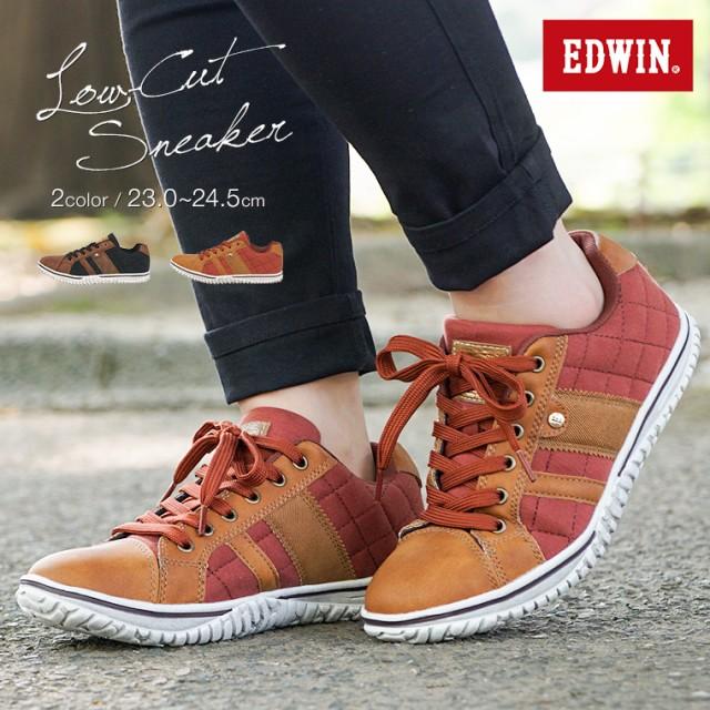 【送料無料】EDWIN 軽量 スニーカー レディース ...